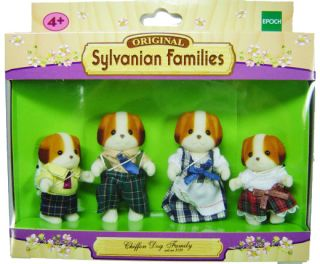 Epoch Sylvanian Families Chiffon Dog Family Figure Set