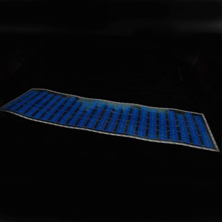 90x25cm Blue Car Music Rhythm LED Flash Light Sticker Sound Equalizer Decorative