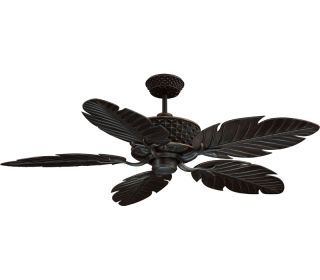 "Ellington PAP52ABZ5R Pineapple Bronze Outdoor 52"" Ceiling Fan w Wall Remote"