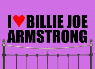 I Love Billie Joe Armstrong Giant Heart Wall Sticker Mrs Number One 1 Fan