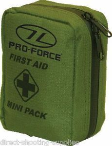 Pro Force Military Army Style Mini Small First Aid Kit in Zipped Belt Pouch