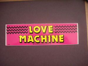 Love Machine Party Trucker Hunting Fishing Bumper Sticker Decal Stock Car