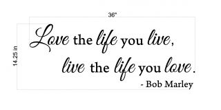 Love The Life You Live Quote Removable Vinyl Wall Art Decal Home Decor Sticker