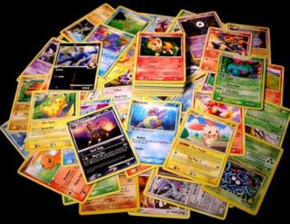 100 Pokemon Trading Cards with Rares Foils Promo