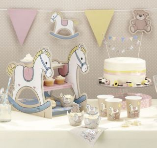 Rock A Bye Baby Table Decorations Christening Baby Shower Baby Naming Party