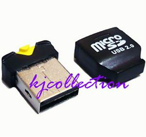 32GB Micro SDHC TF Mini USB Flash Drive Card Reader Black A1