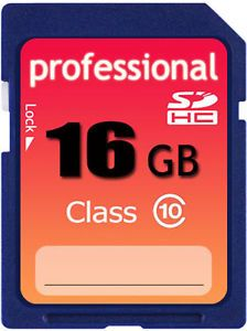 New 16GB Class 10 SD HC SDHC High Speed Professional Flash Memory Card 16g