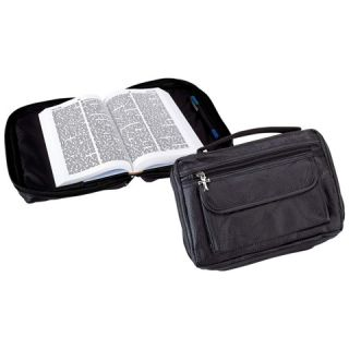Genuine Black Leather Bible Book Cover Zipper Covers with Pocket Free SHIP USA