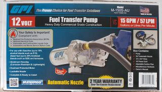 GPI Heavy Duty 12 Volt Fuel Transfer Pump M 150 s AU 15 GPM Gas Diesel New