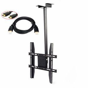 "Tilt Swivel Flat LCD LED Ceiling TV Wall Mount Bracket 14 26 32 40"" HDMI Cable"