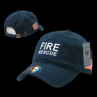 Fire Department Search and Resuce EMT EMS Baseball Caps Dual Flag RAID Caps Hat