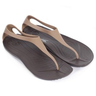 Crocs Women's New Sexi Bronze Espresso Flip Flop Thong Sandal UK 3 8