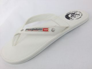 Diesel Flip Flops Sandals Seaside SS13 White Mens Designer Branded Clothing