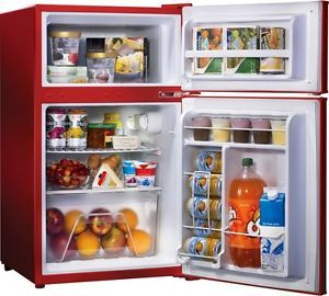Mini Refrigerator Top Freezer Dorm Room Compact Beverage Cooler Food Fridge