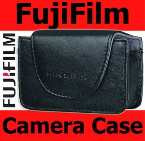 New Genuine Fuji Fujifilm FinePix Black Soft Leather Camera Case for A Series