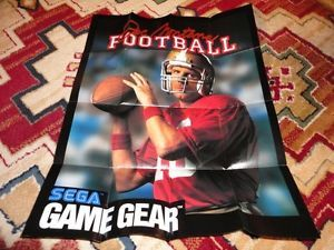 Sega Game Gear Game Poster Joe Montana Football Game Gear Advertisement