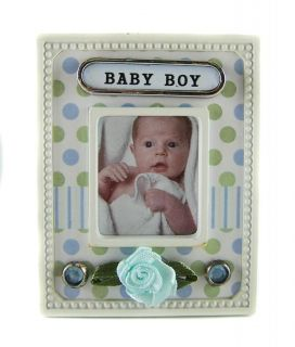 Scrapbook Style Baby Boy Magnetic Frame Free Local Post