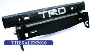 TRD Sport Racing Kevlar Carbon License Plate Frames Frame Tag Holder