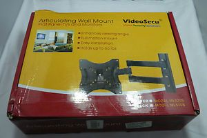 Videosecu LCD LED Articulating TV Wall Mount Bracket with Full Motion Tilt Swive