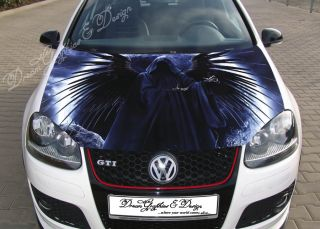 Hood Wrap Full Color Print Vinyl Decal Fit Any Car Death 215