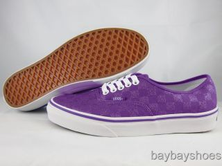 Vans Authentic Glitter Liberty Purple Checkerboard Classic Skate Mens All Sizes