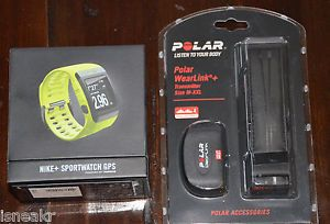 Nike Volt Yellow Sport Watch GPS TomTom Polar Wearlink HRM Heart Rate Monitor