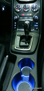 LED Cup Holder Lights Blue Lights Fits 2013 Hyundai Genesis Coupe Cupholder