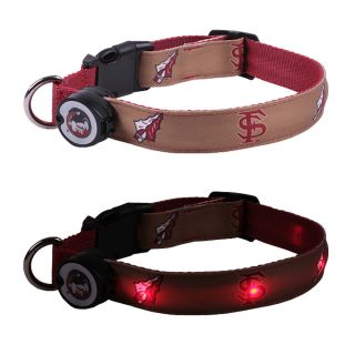 Florida State Seminoles Lighted LED Pet Dog Collar Steady Glow or Flashing