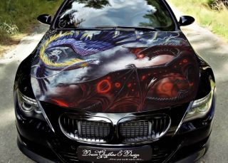 Hood Wrap Full Color Print Vinyl Decal Fit Any Car Dragon 164