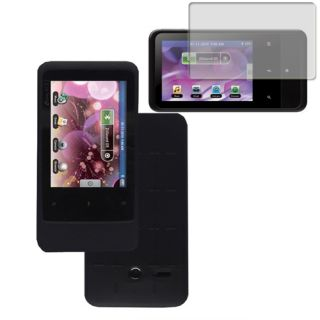 Black Silicone Skin Case Cover Screen for Creative Zen Touch 2