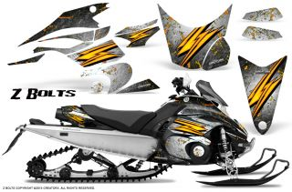 Yamaha FX Nytro 08 12 Snowmobile Sled Graphics Kit Creatorx ZBW
