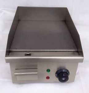 Electric Griddle Commercial Hotplate Burger Bacon Egg Fryer Grill 280mm