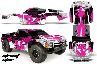 AMR RC Graphic Decal Kit Upgrade Proline Chevy Silverado 4 Traxxas Slash Pink St
