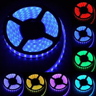 5M Double Row 600 LED 5050 SMD RGB Strip Light Decoration Lamp DC 12V Waterproof