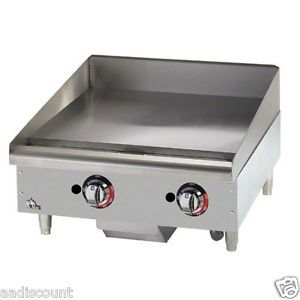 "New Star Max 24"" Griddle Grill 2 Thermostatic Control LP NG Gas 624TF 1"" Plate"