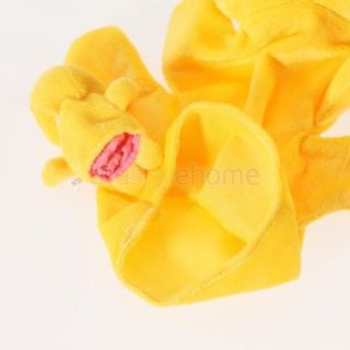 Yellow Duck Hand Puppet Finger Puppet Preschool Kids Funny Toy Soft Comfortable