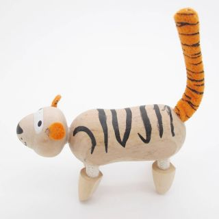 3D Portable Wooden  Animals Wood Figures Baby Kids Toys Leopard