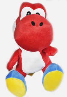 Super Mario Yoshi Plush Soft Toy Doll Red 10' Sit