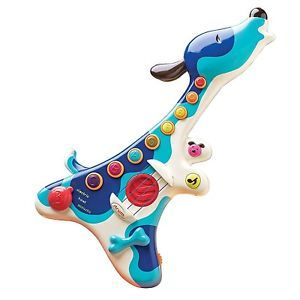 Dog Shaped Woofer Baby Guitar Toddler Musical Toys Colorful 20 Songs Kids New