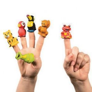 12 Rain Forest Animal Finger Puppets Kids Birthday Party Favors Toys Gifts