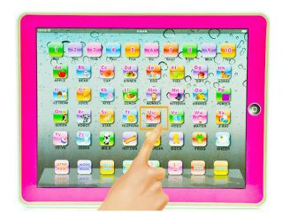 New Pink Y Pad for Kid Children Learning English Educational Computer Tablet Toy