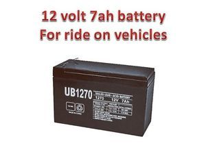 12V 7Ah Battery for Kids Ride on Cars Motorcycles Toy 12 Volt