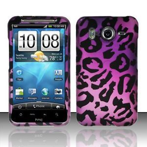 HTC Inspire 4G Purple Cheetah Hard Phone Cover Case