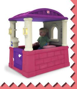 Kids Girls Pink Pretend Play House Indoor Outdoor Toy Home House Child Cottage