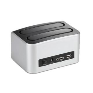 Dual SATA IDE HDD Hard Drive Docking Station Backup Clone Dock eSATA USB 2 0 Hub