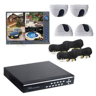 4CH Channel CCTV Network DVR System Color Security Camera Home Surveillance 1BH