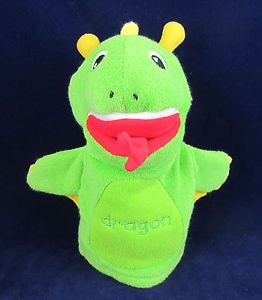 Kids II Baby Einstein Green Dragon Hand Puppet Soft Animal Washable Toy