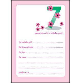 10 Childrens Birthday Party Invitations 7 Years Old Girl Nice Bpif 20 Pink