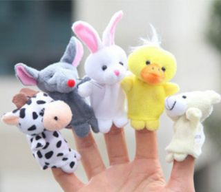 10pcs Kids' Mixed Lovely Finger Animal Puppet Set Soft Toy