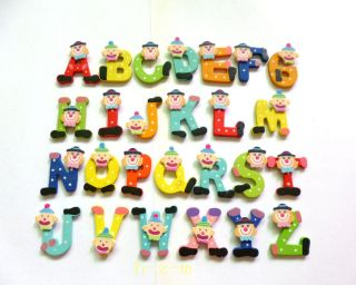 Cartoon Kids Wooden Alphabet Fridge Magnet Child Educational Toy